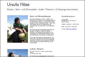 Screenshot www.ursula-haese.de